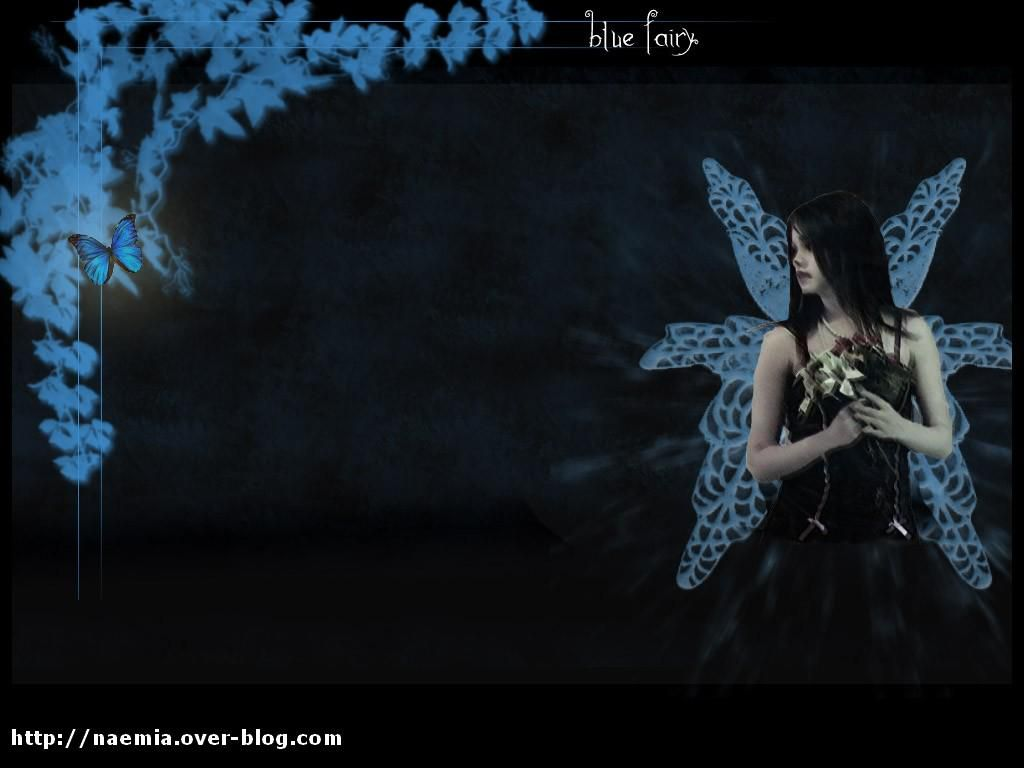 wallpaper blue fairy
