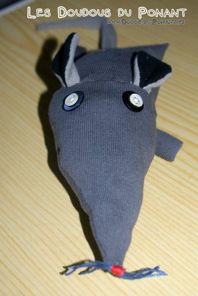doudou chaussette rat dodo ponant (3)