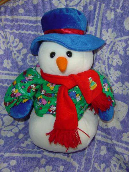Photo Bonhomme de Neige en Peluche