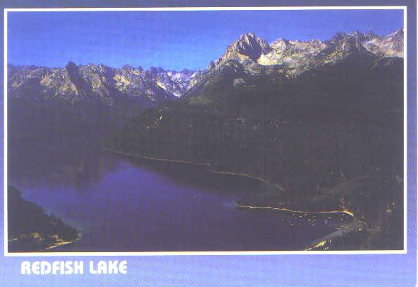 Lac Redfish, Sawtooth Mountain's, Idaho