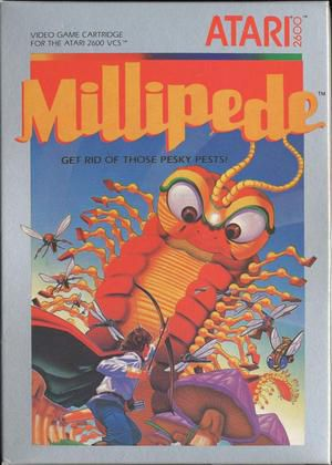 millipede atari 2600 box