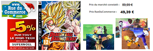 dragon ball raging blast 49euros