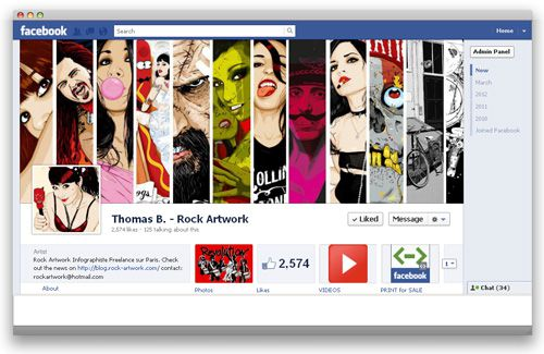 Rock Artwork sur Facebook