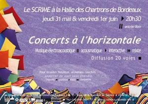 Affiche concerts SCRIME