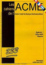 Couverture Cahiers de l'ACME n° 233