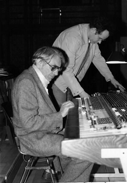 Pierre Schaeffer et Michel Chion en 1984