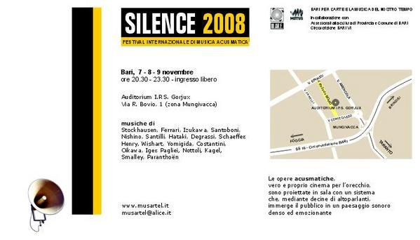 Affiche silence 2008