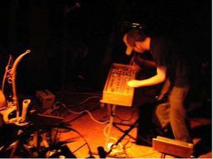 Michael Carter et son boîtier de commande MIDI