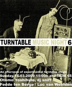 Affiche 6th Turntable Night