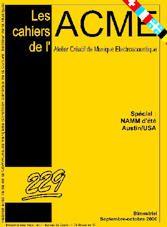 Couverture n° 229 des Cahiers de l'ACME
