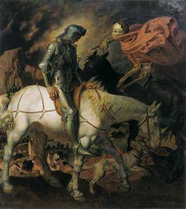 Don Quixote Knight and Death Theodor Baierl