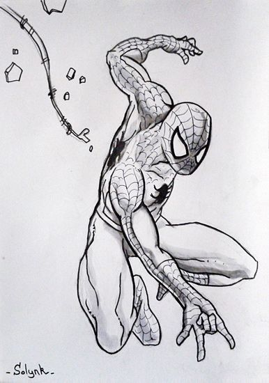 dessin Spiderman classique - Spidey drawing