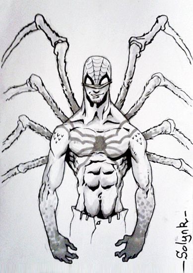 dessin Spiderman Mutant avec tatouage