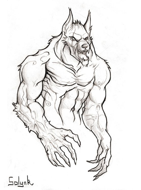 Dessin De Loup Garou Mes News Illustrations Mise En