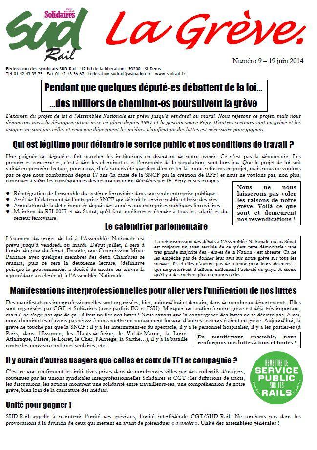 Greve SNCF Sud Rail 19-06-14