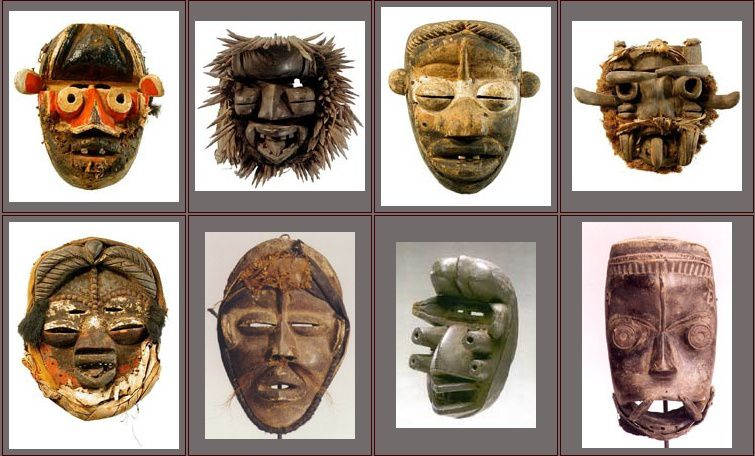 masque africain symetrie