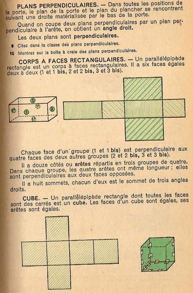 Parallélépipède rectangle et cube - Manuel à destination des classes de fin d'études primaires