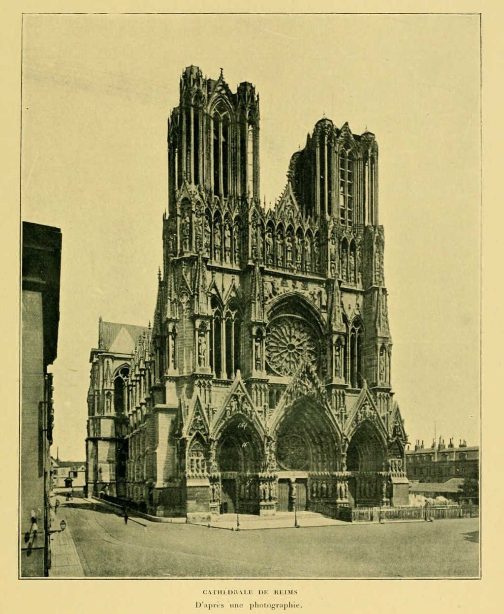 Vie de Jeanne d'Arc : cathedrale de reims
