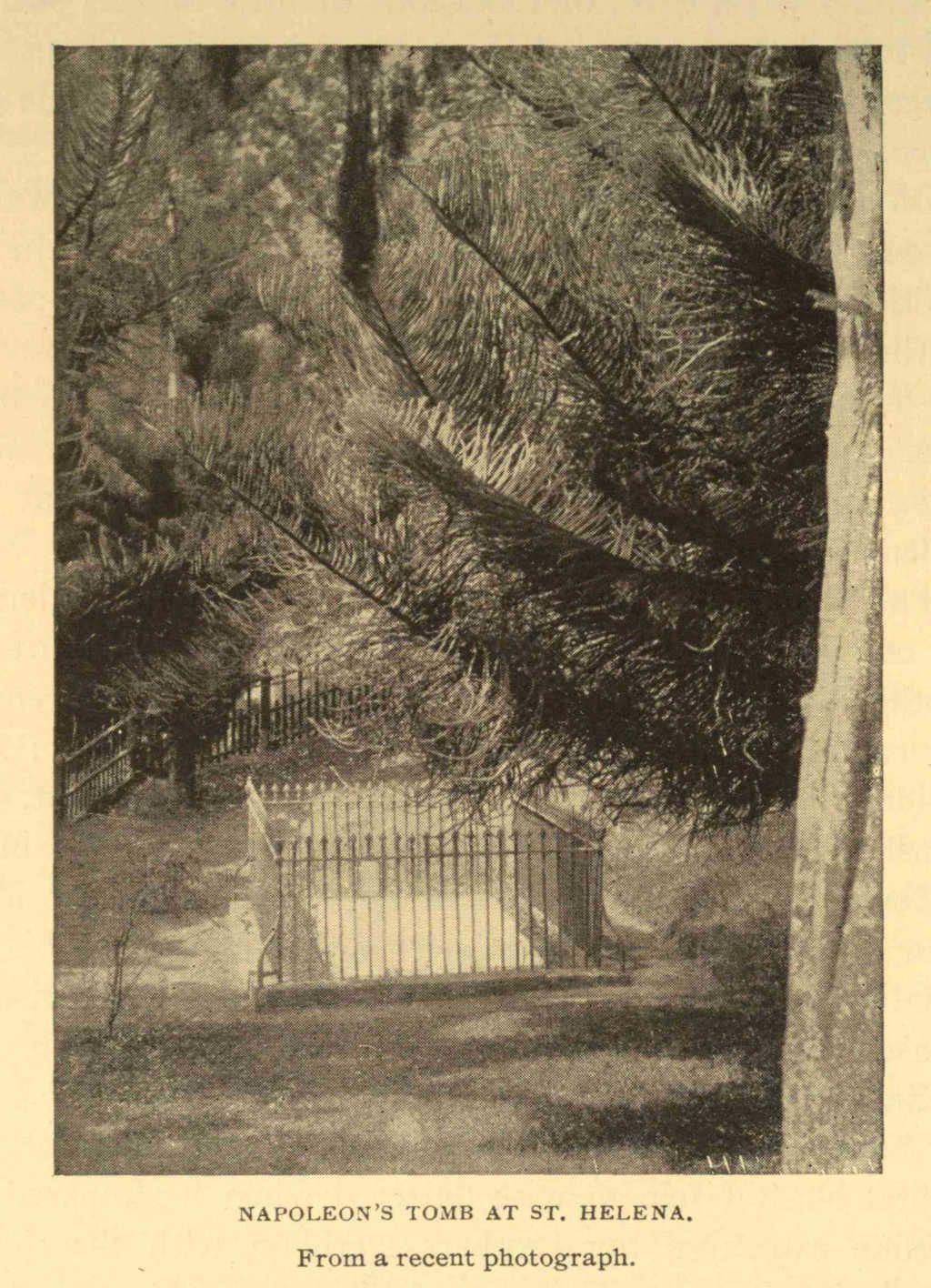 Gravure : tombe de napoleon a ste helene