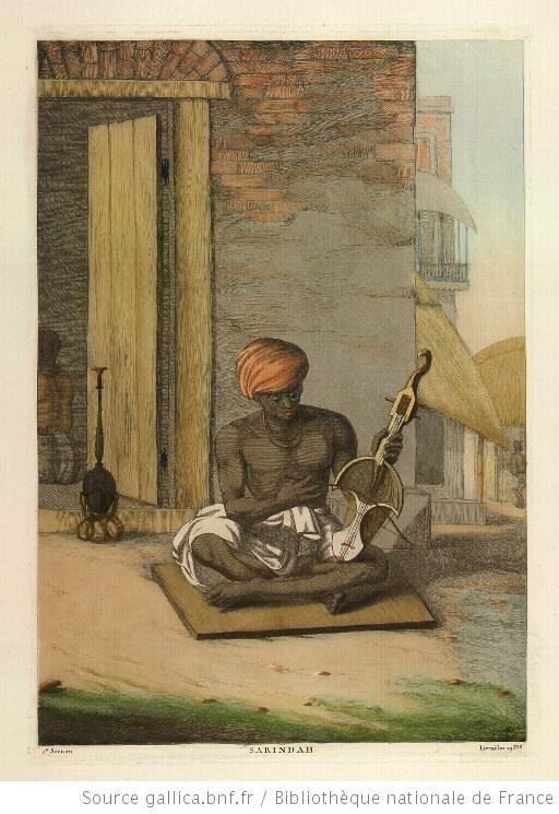 Sarindah, instrument de musique hindoue