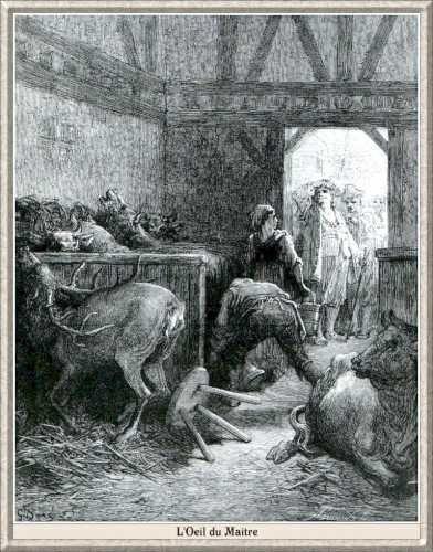gravure fable de la fontaine - illustration dore - l oeil du maitr