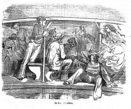 Gravure Paris de Gustave Doré : paris-train-asniere