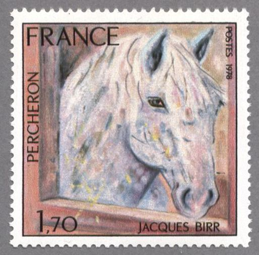 Timbre de France : Timbre de France : 1982n cheval percheron