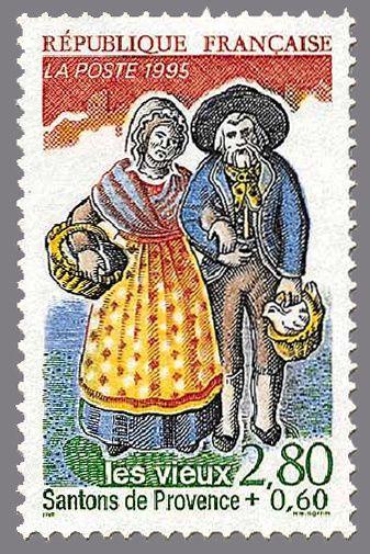 Timbre de France : 2981 les vieux santons de provence