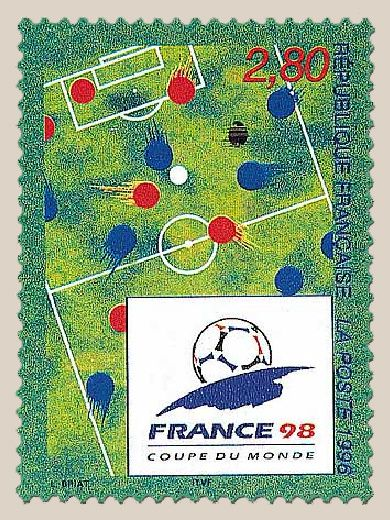 Timbre de France : 2985 france 98 coupe du monde de football