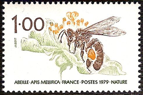 Timbre nature : abeille timbre france