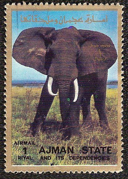Timbre nature : elephant timbre ajman