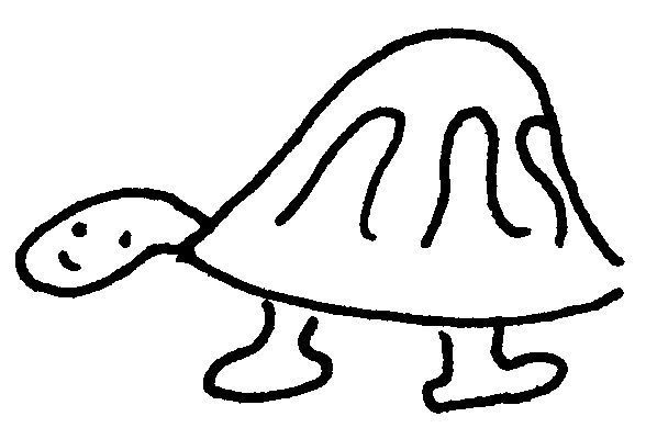 Dessin-coloriage animal : tortue cartoon