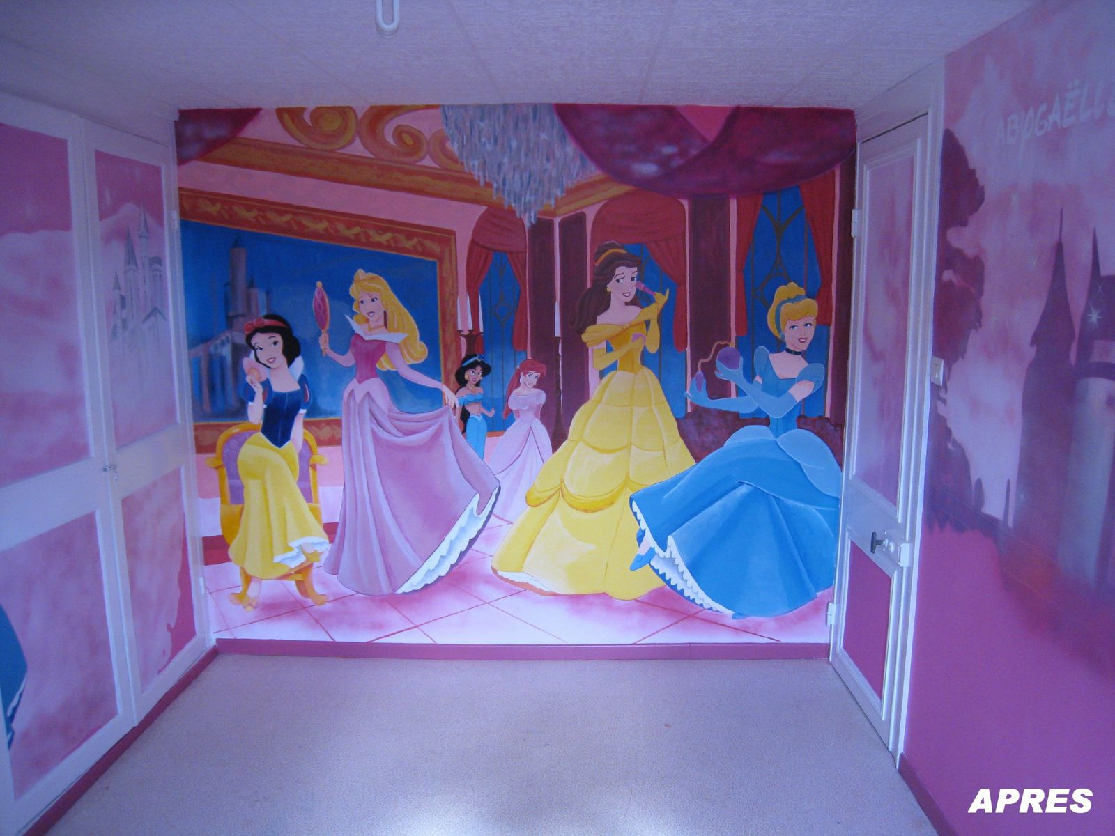 D co de chambre princesses disney jank artiste for Chambre princesse