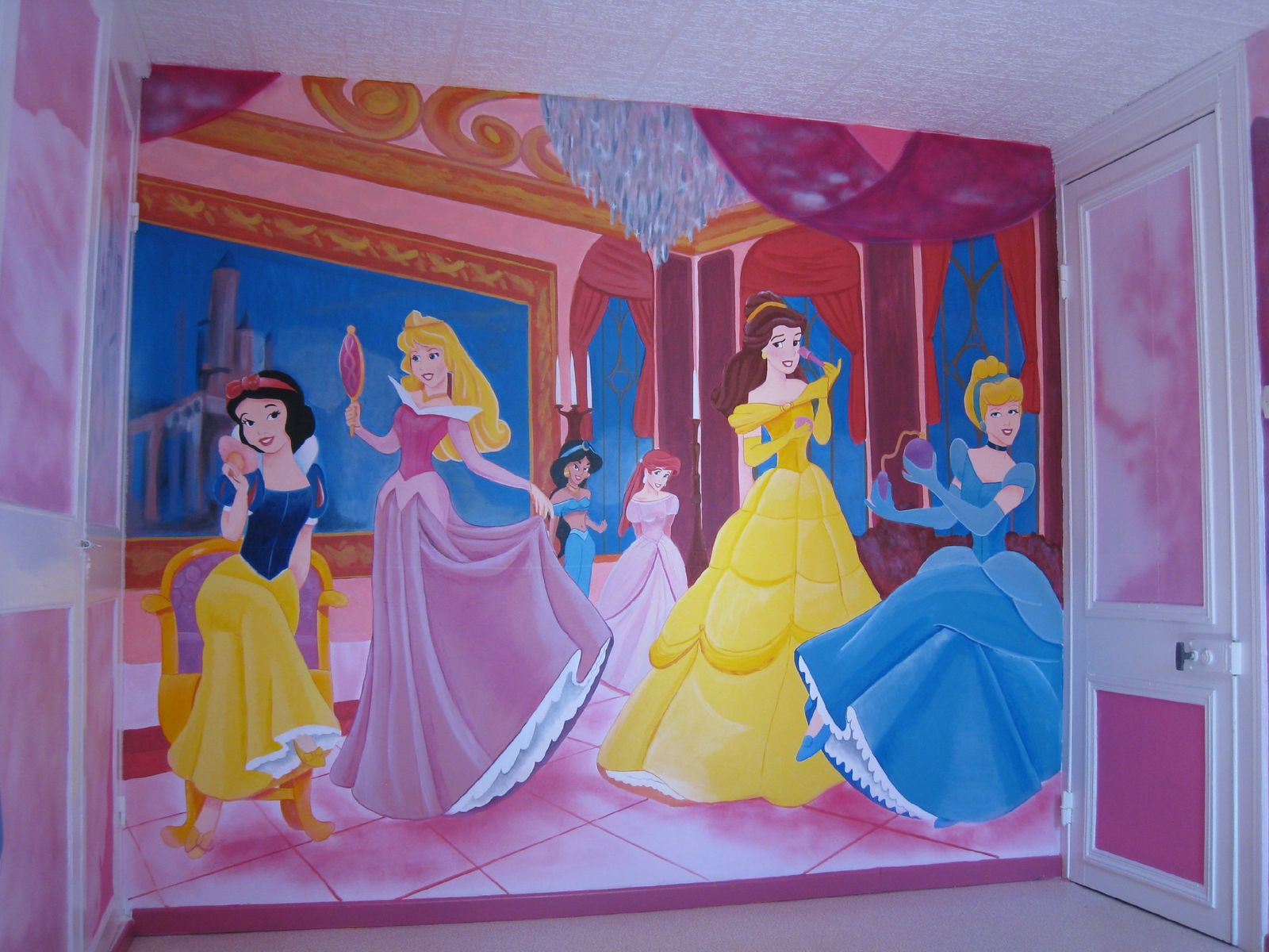 d co de chambre princesses disney jank artiste peintre decorateur. Black Bedroom Furniture Sets. Home Design Ideas