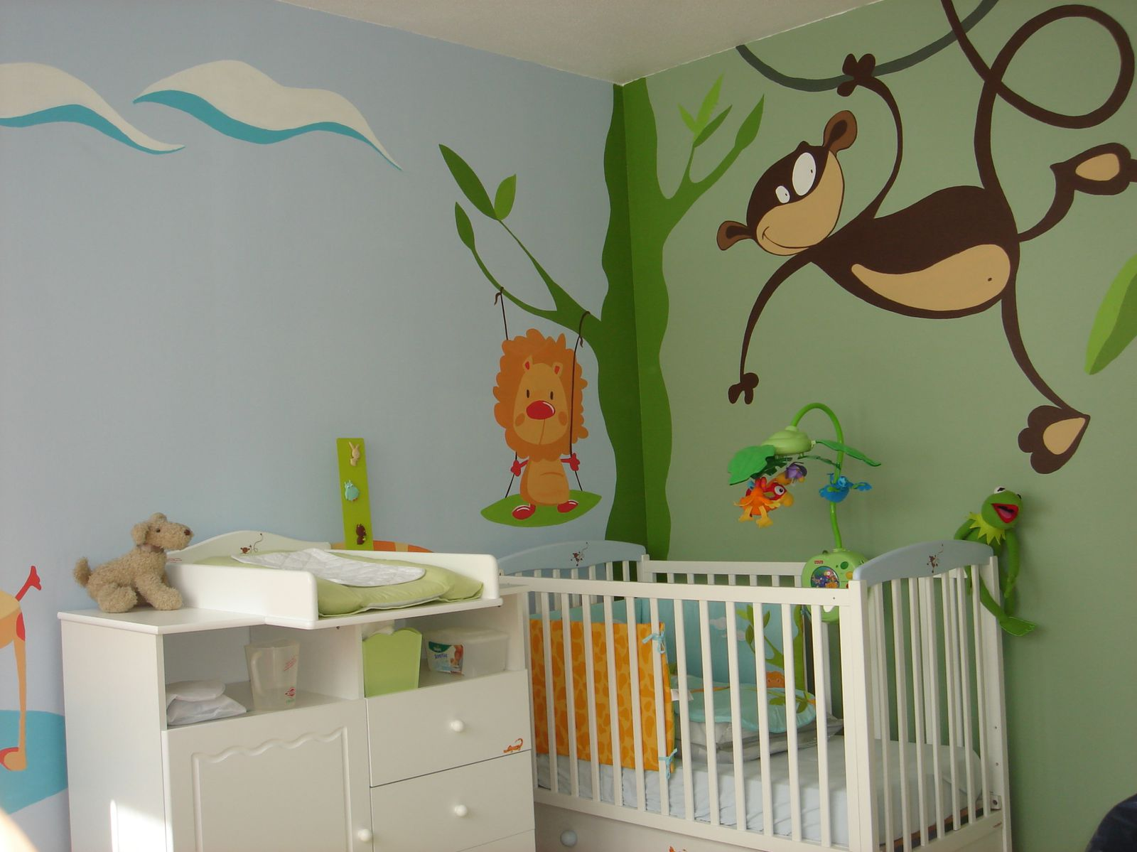 D co de chambre b b jank artiste peintre decorateur - Decoratie murale bebe ...
