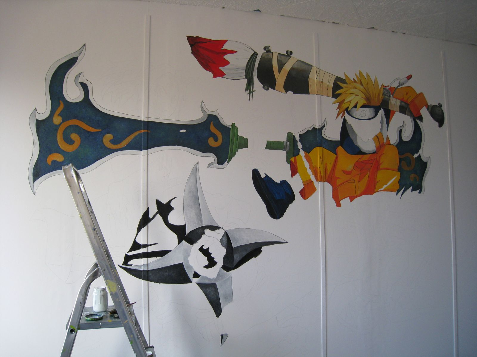 D co de chambre naruto jank artiste peintre decorateur for Decoration murale naruto
