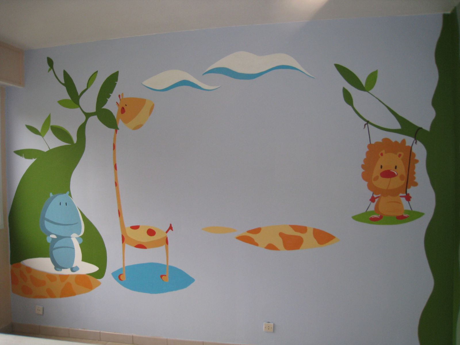 Decoration murale jank artiste peintre decorateur for Deco mural bebe