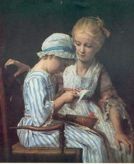 Bordeuses Albert Anker