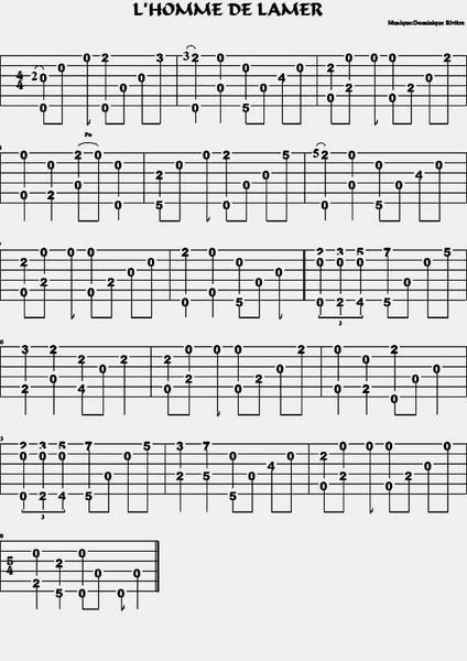partition guitare fingerstyle
