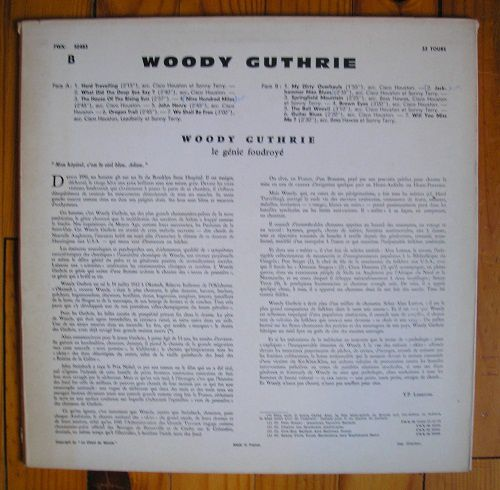 Woody Guthrie sings folk songs (with Leadbelly, Cisco Houston, Sonny Terry, Bess Hawes)