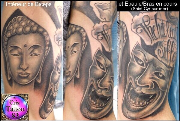 Tatouage Bouddha & Mask