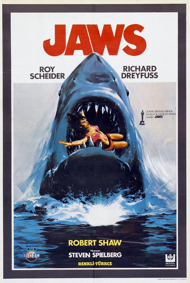 JAWS (AFFICHE TURQUE)