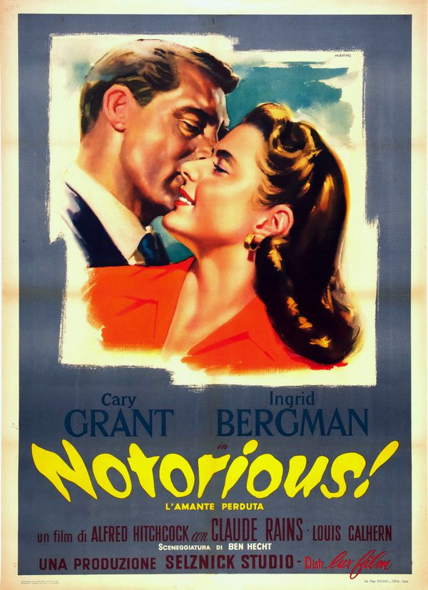 NOTORIOUS (AFFICHE ITALIENNE)