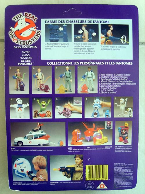 THE REAL GHOSTBUSTERS RAY STANZ MIB KENNER BACK
