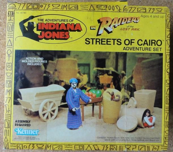 INDIANA JONES PLAYSET KENNER STREETS OF CAIRO BOX