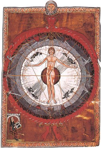 illustration hildegarde de bingen medieval mo