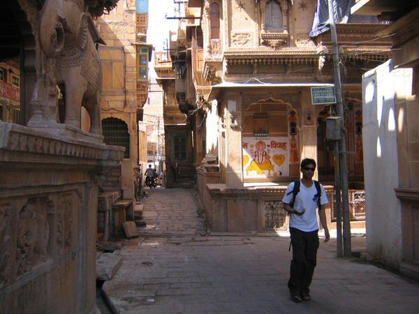 Ruelle dans la ville de Jaisalmer