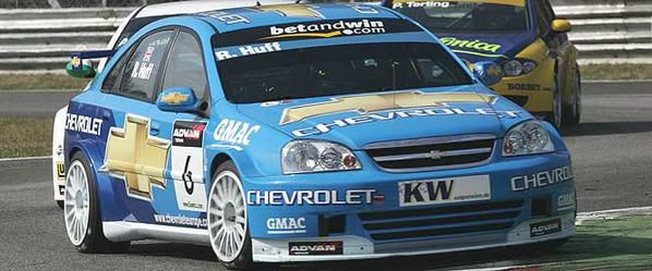 La Chevrolet Lacetti, ici à Monza