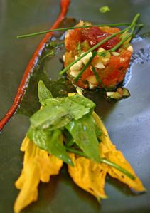 Tartare de tomates anciennes, de Sébastien Richard (photo de S.Riss)