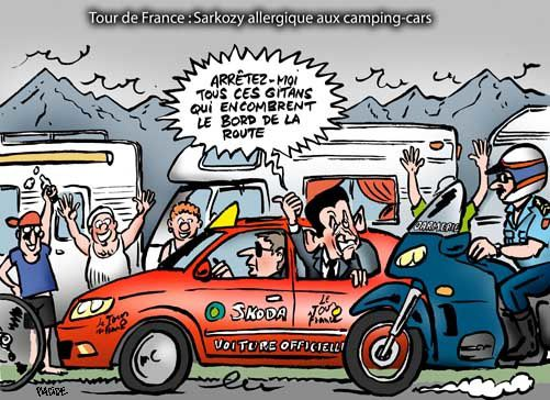 sarkozy tour de france germaneau